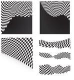 Checkered флаги установили предпосылку Стоковые Изображения RF