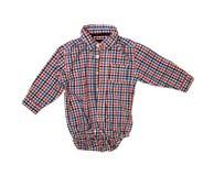 Голубая checkered рубашка мальчика Стоковое Изображение
