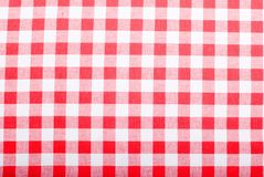 Полотенца кухни ткани предпосылки checkered Стоковая Фотография