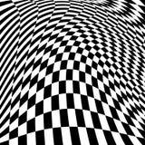 Предпосылка иллюзии движения дизайна checkered Стоковое Фото