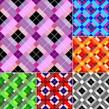 Checkered Abstract Seamless Background Stock Photos