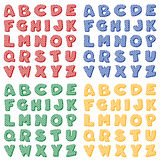 Checkered Alphabet, Primary Colors Royalty Free Stock Image