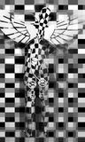 Checkered angel Royalty Free Stock Photos