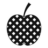 Checkered apple icon, simple style Royalty Free Stock Photo