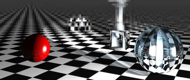 Checkered  art composition Royalty Free Stock Photo