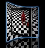 Checkered  art composition Stock Images