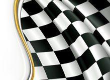 Checkered Background. Computer illustration, isolated on the white Royalty Free Stock Image
