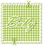 Checkered background baby Stock Image