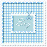 Checkered background boy Stock Images