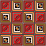 Checkered Background with Coloured Squares. Reminding oa a pavement royalty free illustration