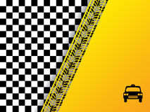Checkered background design with tire tread Royalty Free Stock Image