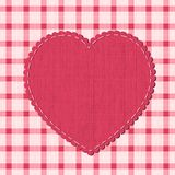 Checkered background with heart label Royalty Free Stock Photos