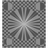 Checkered background.  Illusion road in perspective. Stock Photography