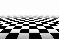 Checkered Background In Perspective Stock Image