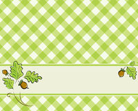 Checkered background in a light green color Stock Image