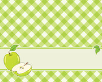 Checkered background in a light green color Stock Photo