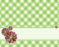 Checkered background in a light green color Royalty Free Stock Photography