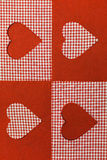 Checkered background in red tones decorated Stock Images