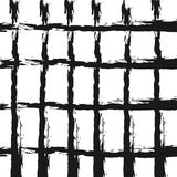 Checkered background. Rough brush smears. Grunge. Royalty Free Stock Photography
