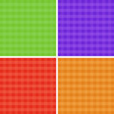 Checkered background set Stock Images
