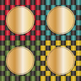 Checkered backgrounds Royalty Free Stock Photo