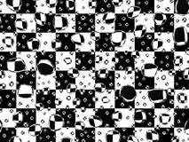 Checkered backhround. Water drops on black and white squares background Vector Illustration