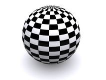 Checkered ball Royalty Free Stock Photo