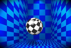 Checkered ball Royalty Free Stock Images