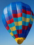 Checkered Balloon. Checkered Inflated Hot Air Balloon Royalty Free Stock Photo
