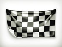 Checkered banner Royalty Free Stock Photo