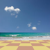 Checkered Beach Stock Photography