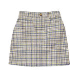 Checkered beige skirt isolated on the white background Royalty Free Stock Photography