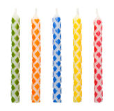 Checkered Birthday Candles Stock Images