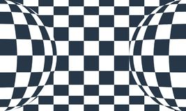 Checkered gray and white abstract background. Checkered black and white abstract wavy background. Vector illustration royalty free illustration