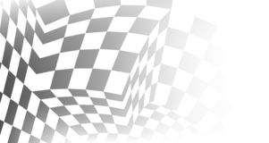 Checkered gray and white abstract background. Checkered black and white abstract wavy background. Vector illustration stock illustration