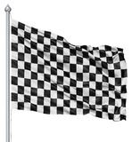 Checkered black and white flag Stock Images