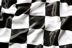 Checkered flag. Checkered black and white flag closeup Royalty Free Stock Image