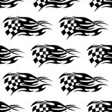 Checkered black and white flag vector illustration