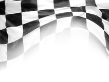 Checkered flag. Checkered black and white flag on white Royalty Free Stock Images