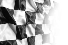 Checkered flag. Checkered black and white racing flag Royalty Free Stock Photography