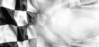 Checkered flag. Checkered black and white racing flag Royalty Free Stock Photo