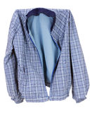 Checkered blue cotton  jacket Royalty Free Stock Images
