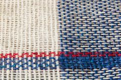 Checkered blue fabric Royalty Free Stock Photography