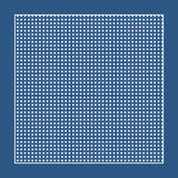 Checkered blue fabric with white circles and a frame. Greeting card checkered blue fabric with white circles and a frame Royalty Free Stock Photos