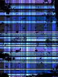Checkered Blue Grunge Background. Royalty Free Stock Images