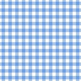 Checkered blue tablecloth seamless pattern. Gingham plaid design background. Checkered blue tablecloth seamless pattern. Gingham plaid design background for royalty free illustration
