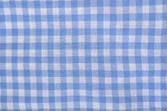Checkered blue and white texture. Close-up. Fashion concept.  royalty free stock images