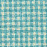 Checkered blue woven fabric texture Royalty Free Stock Photography