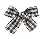 Checkered bow isolated on white Royalty Free Stock Photography
