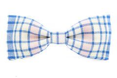Checkered bow tie. Isolated on white background Stock Images